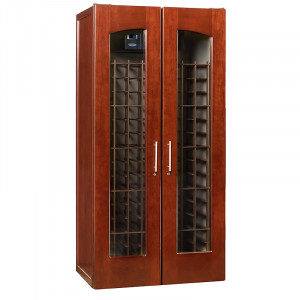 Le Cache Contemporary 2400 Wine Cabinet Classic Cherry