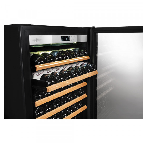 Transtherm Ermitage Prestige: Black Glass / Fully Shelved-335