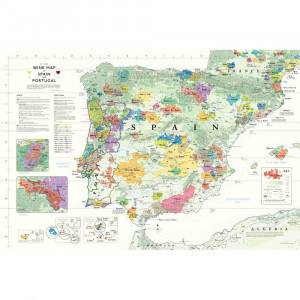 Wine Map of Spain & Portugal (Iberian Peninsula)