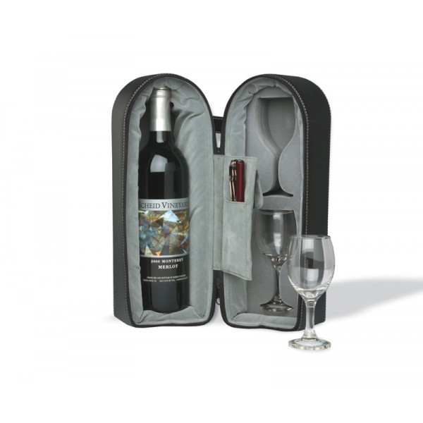 Travel Wine and Glass Holder-266