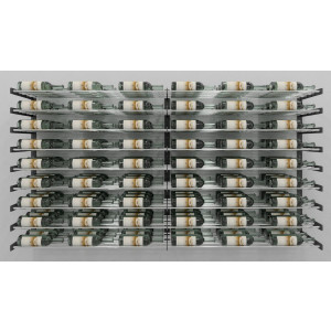 Evolution Series Wine Wall 45″ Wall Mounted Wine Rack Kit (54 to 162 bottles)