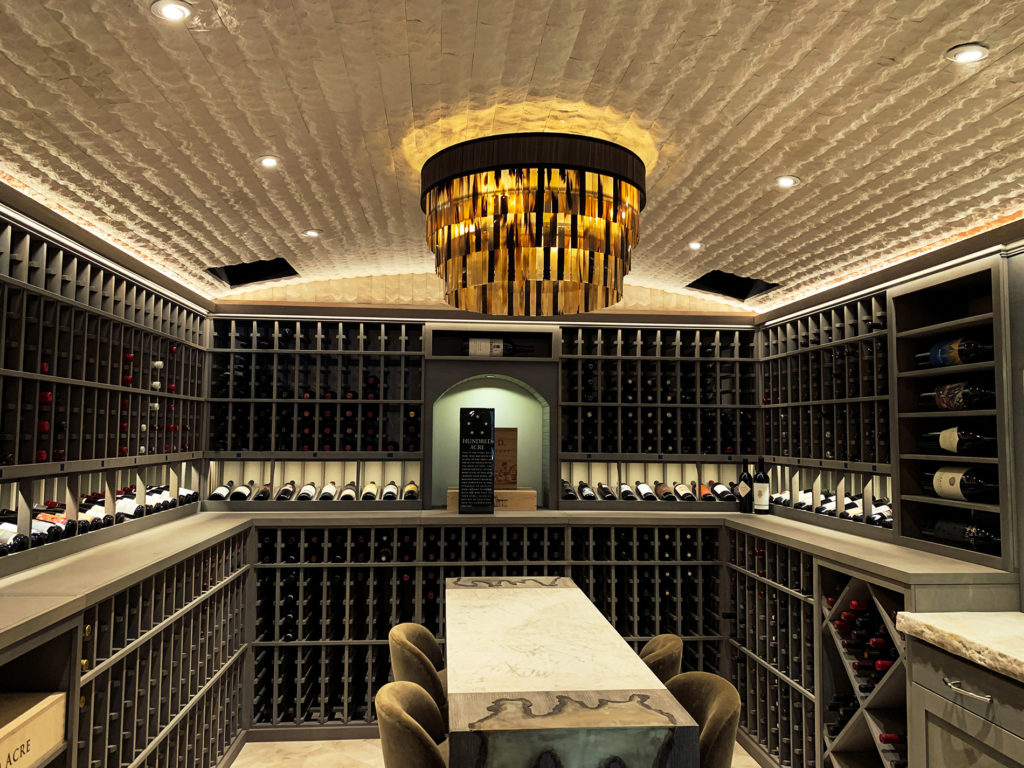 A Wine Room with a Tasting Bar...Temperature Controlled!
